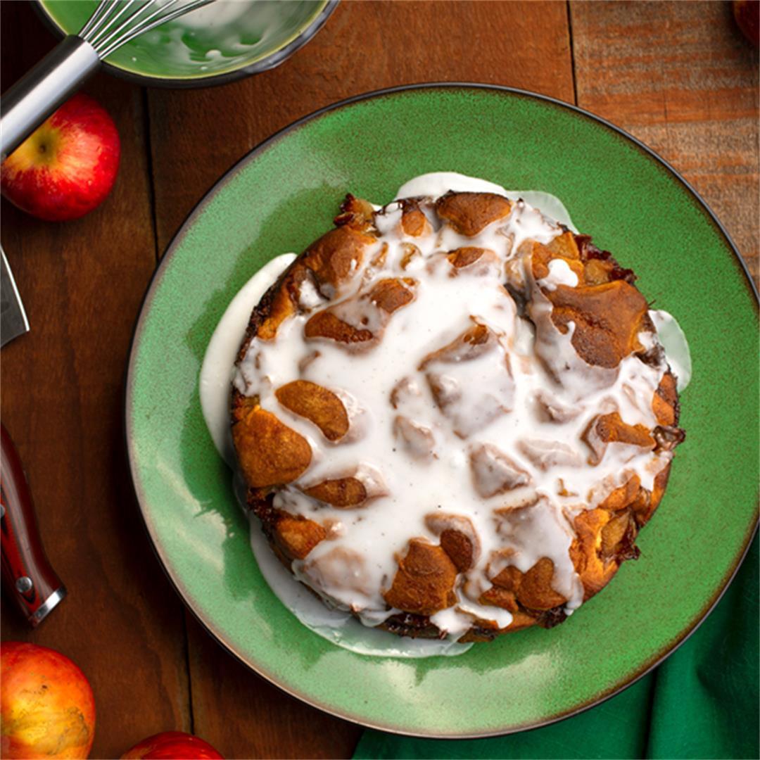 Apple Fritter Torte; Baked, Not Fried!