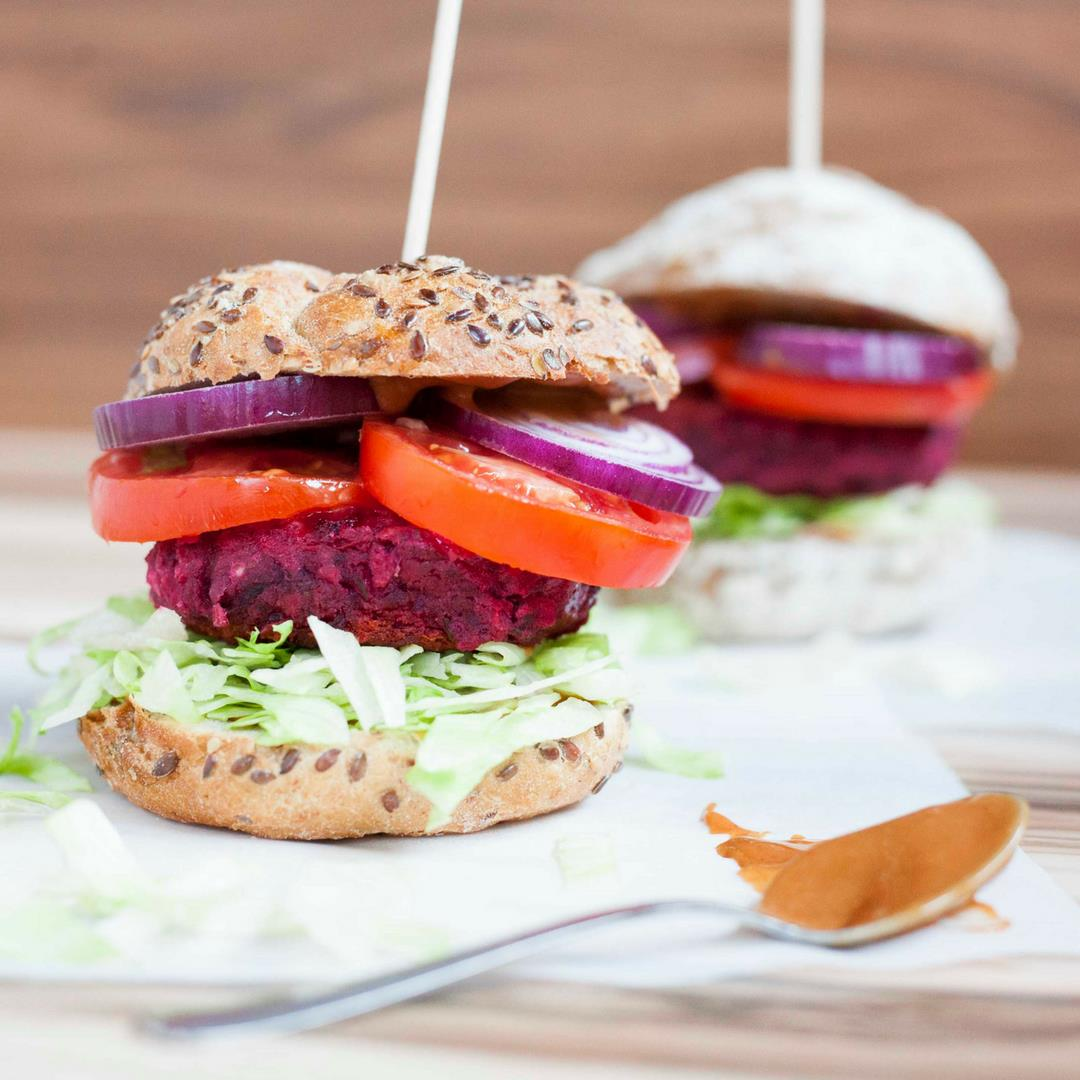 Beetroot Veggie Burger