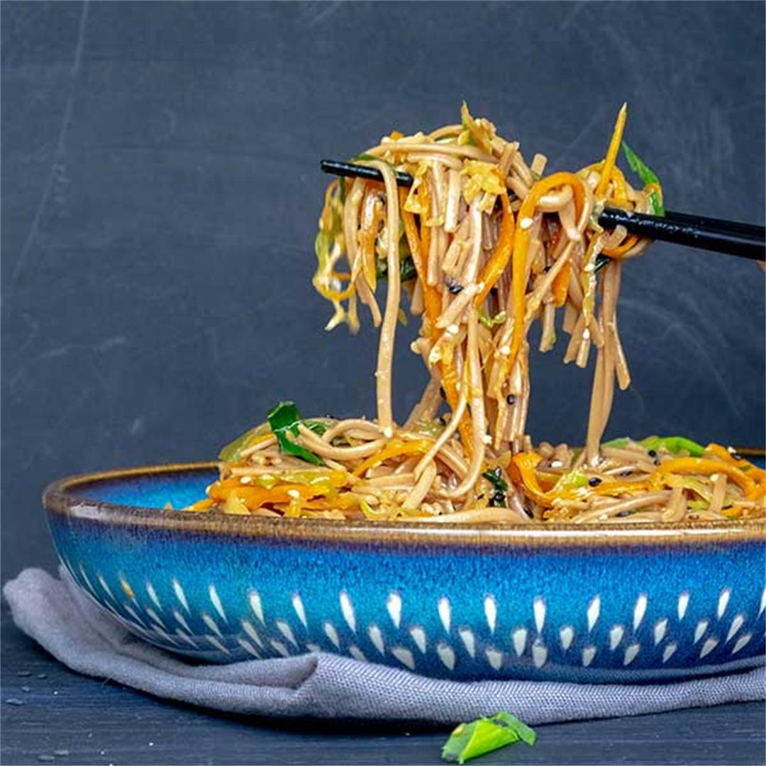 Vegetable Hibachi Noodles (Gluten-Free, Vegan)