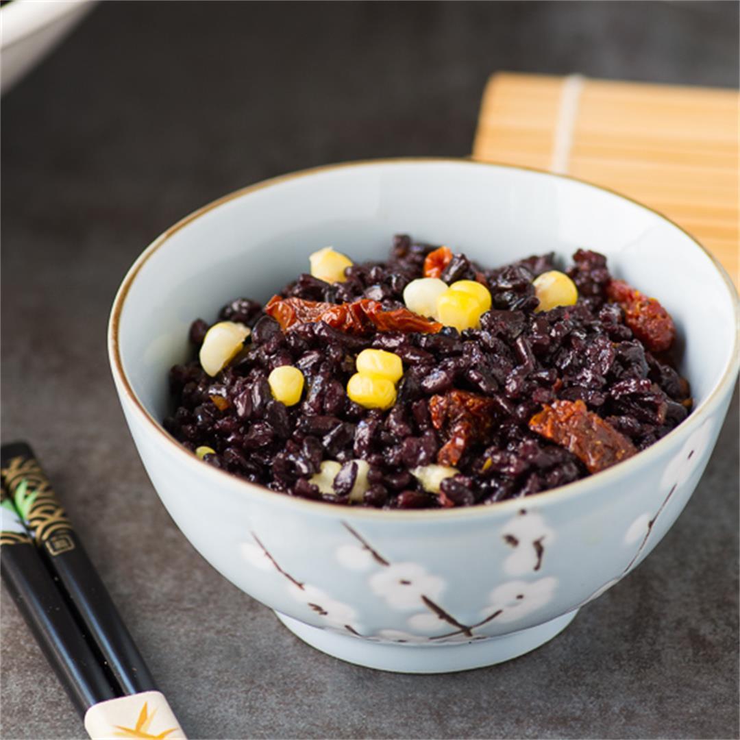 Black Rice and Sweet Summer Corn Salad