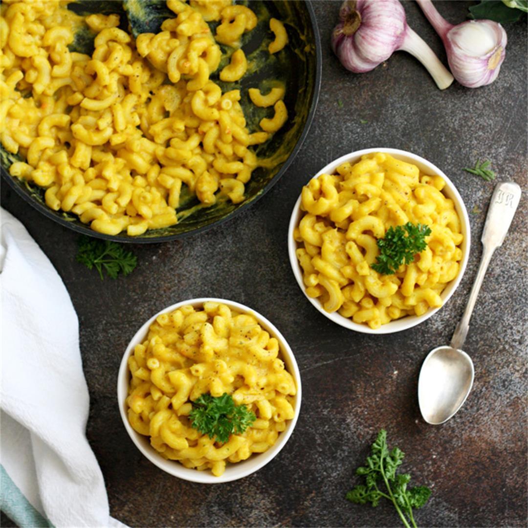 Silky Vegan Mac and Cheese