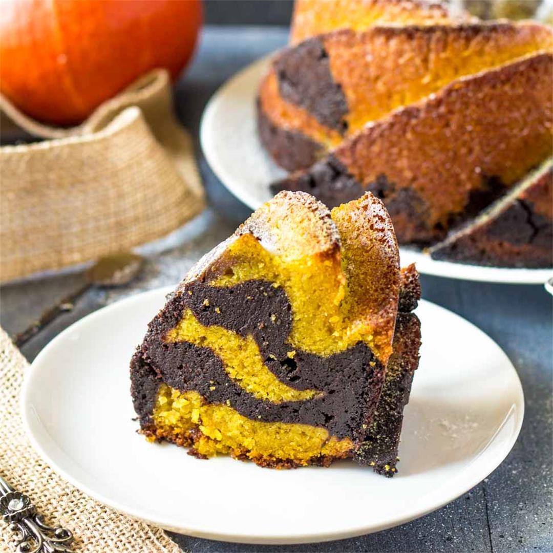 Pumpkin Cocoa Bundt Cake