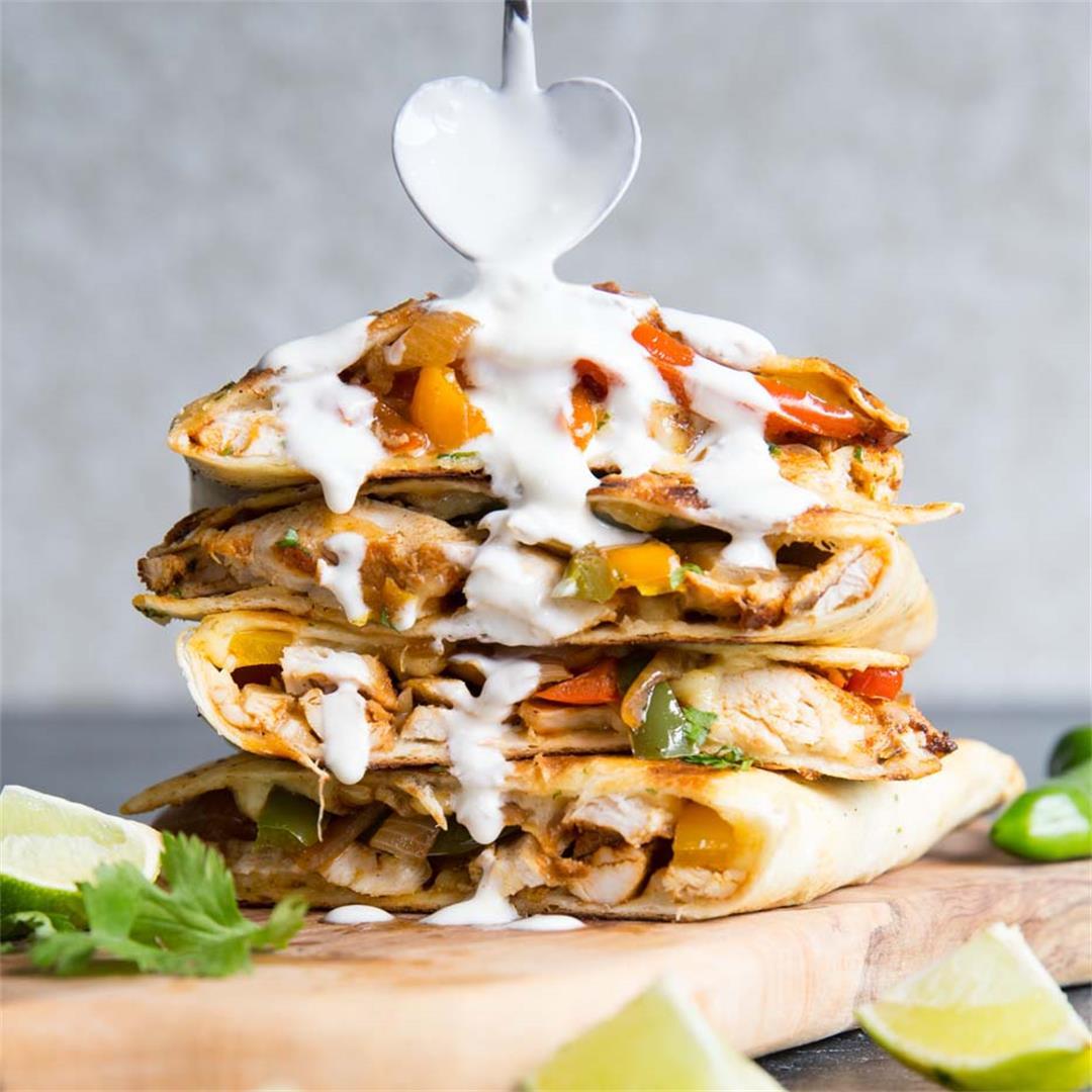 Best Ever Chicken Quesadillas