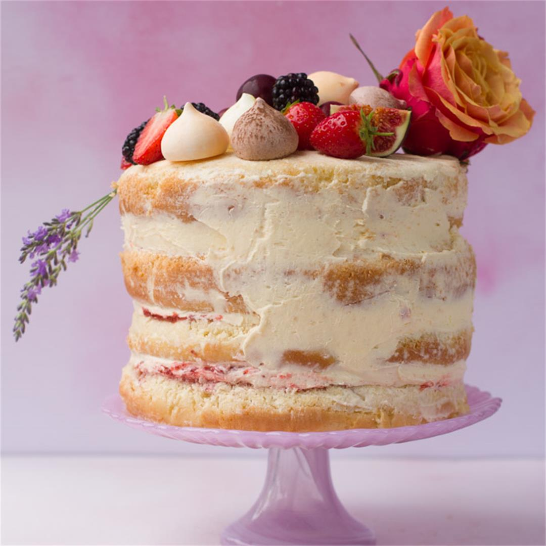 Vanilla Naked Cake - No Baking Skills Required!