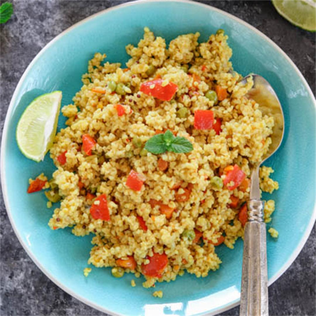 Instant Pot Cracked Wheat Pilaf - Vegan and Gluten Free