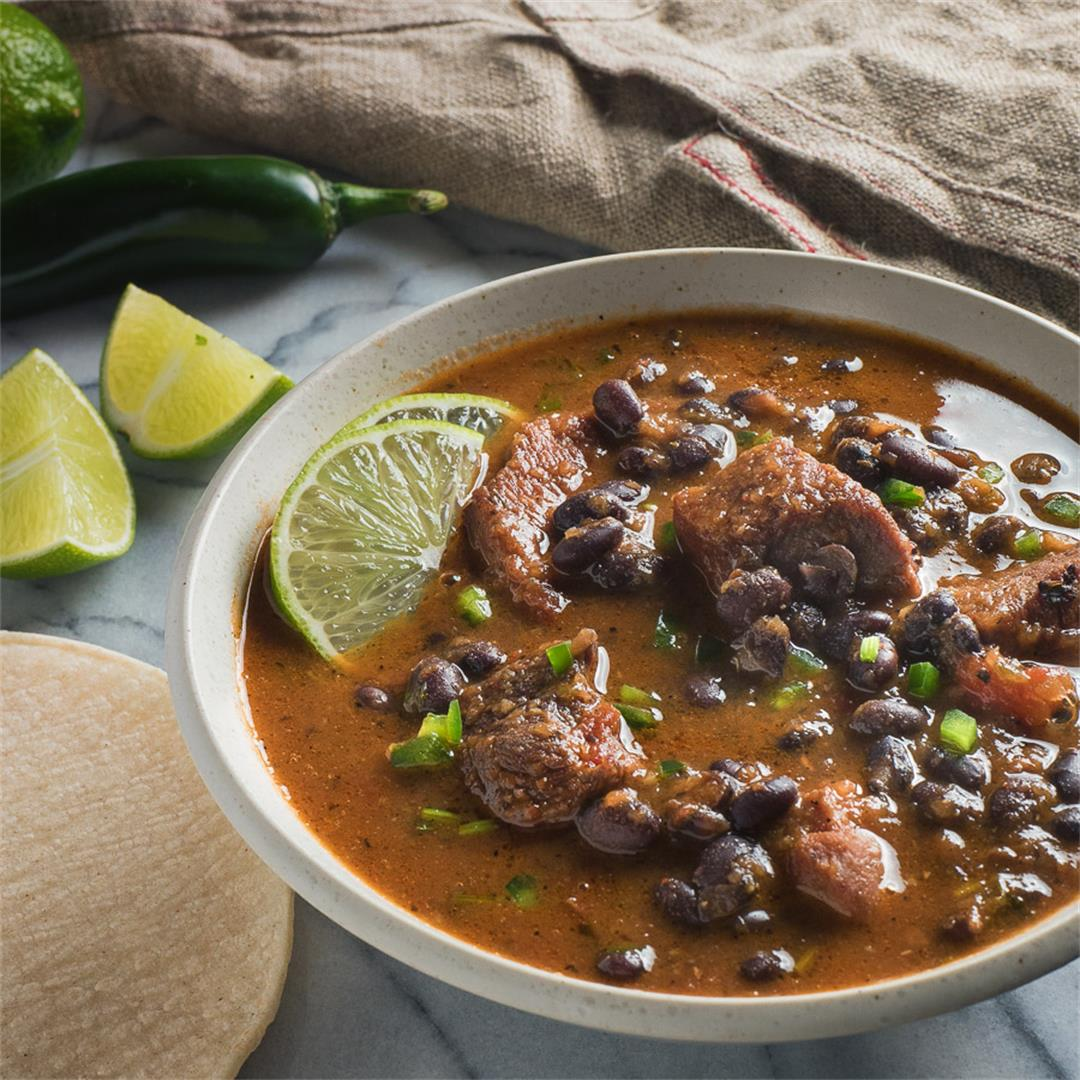 Mexican Pork and Black Bean Chili