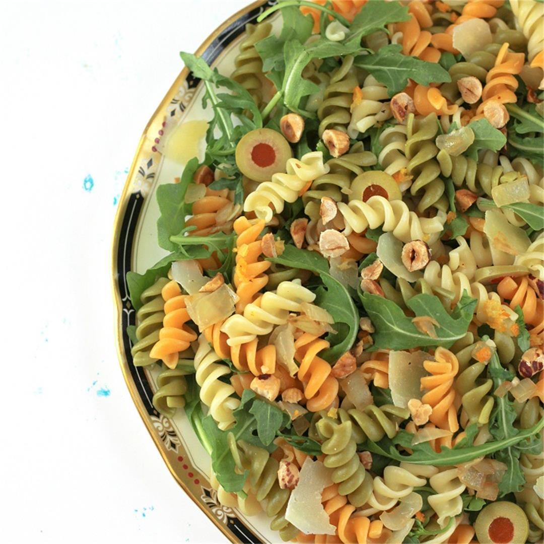 Olive Pasta with Kumquat Vinaigrette