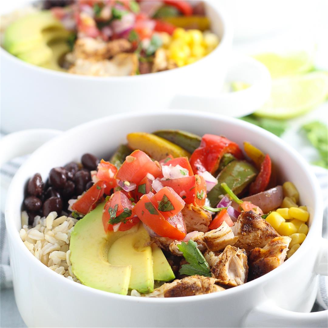 Healthy Meal Prep Chicken Fajita Bowl