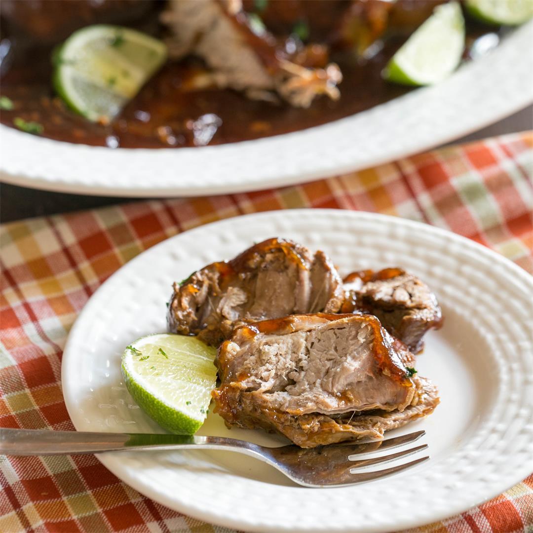 crock pot sweet lime ginger pork