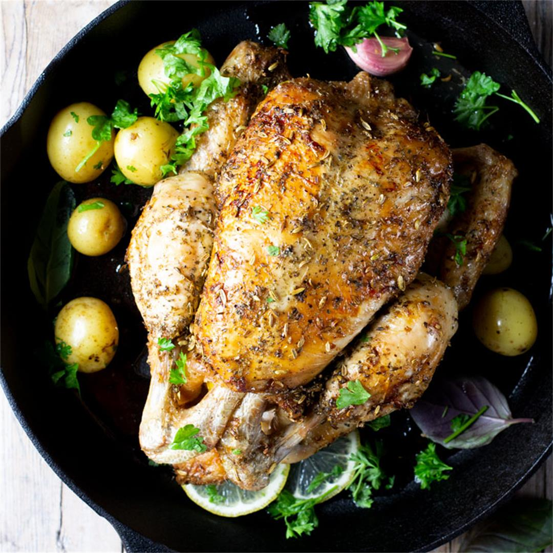 Simple Lemon Roast Chicken