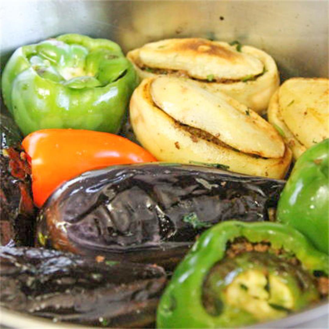 Meat-Stuffed Vegetables (Sheikh Mahshi)