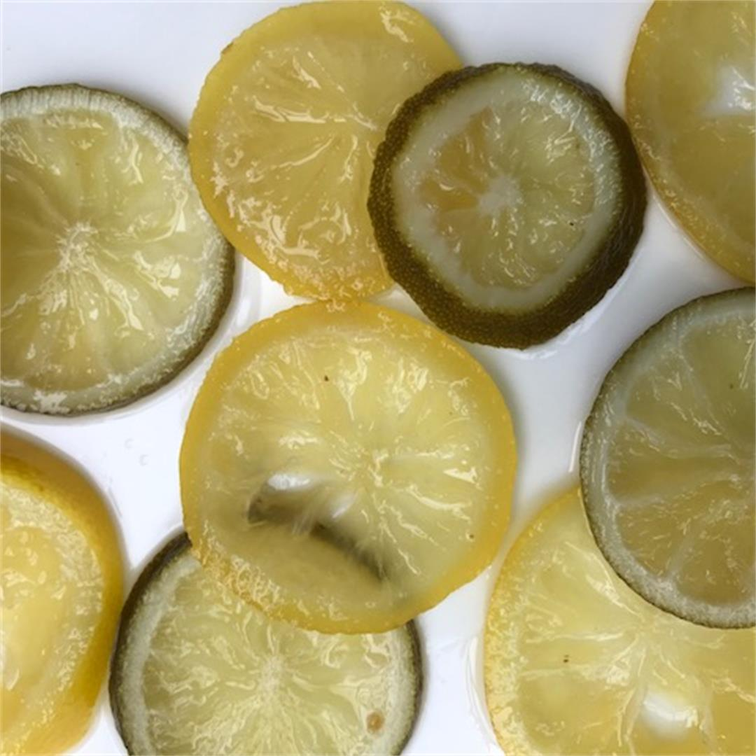 Candied Lemon and Lime Slices