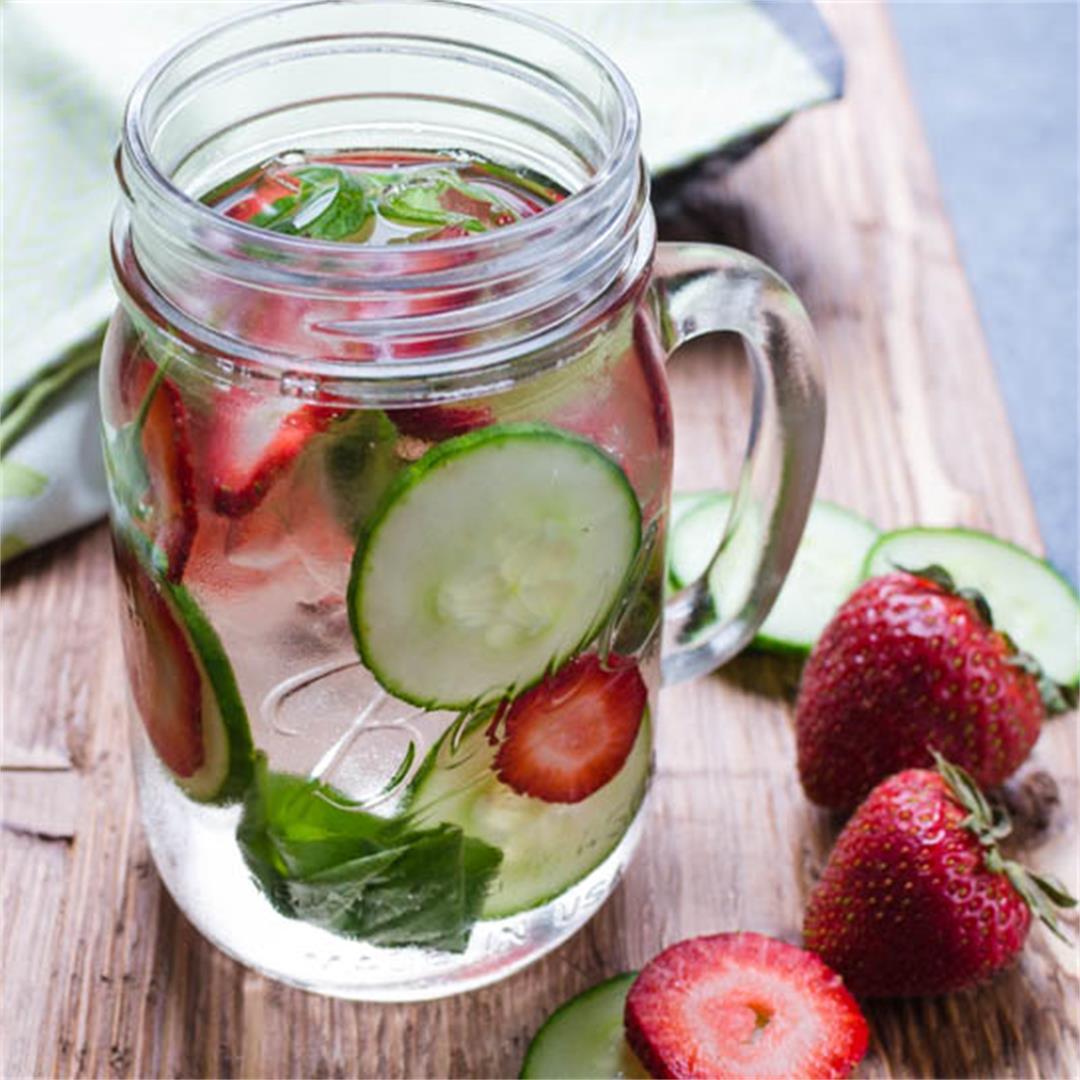 Strawberry Cucumber Basil Water