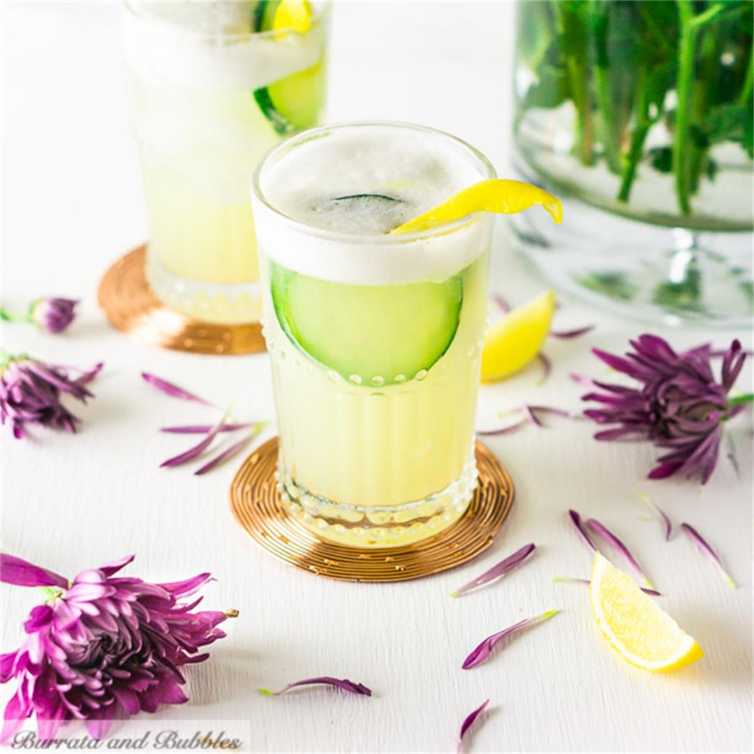 Cucumber-Lavender Gin Fizz