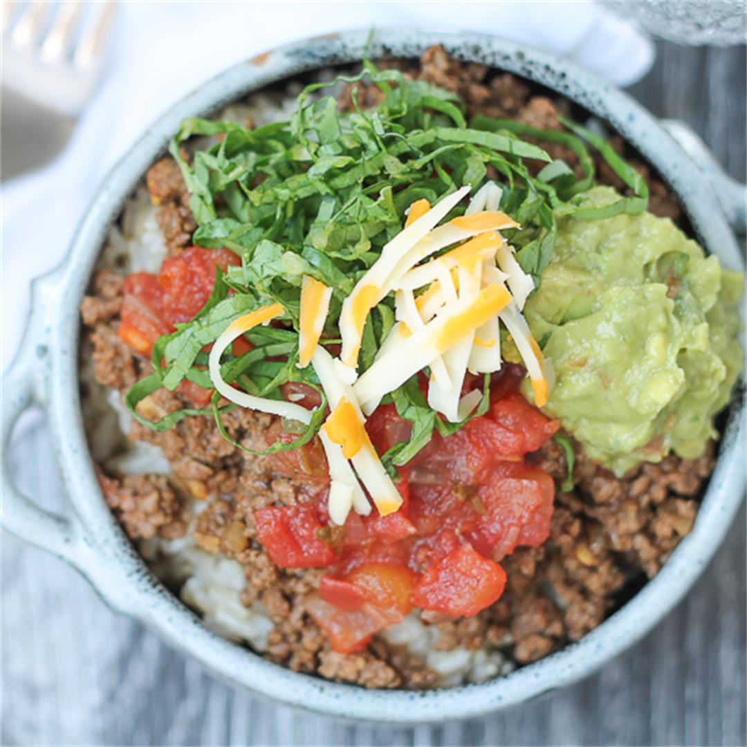 Mexican Spiced Beef Bowl