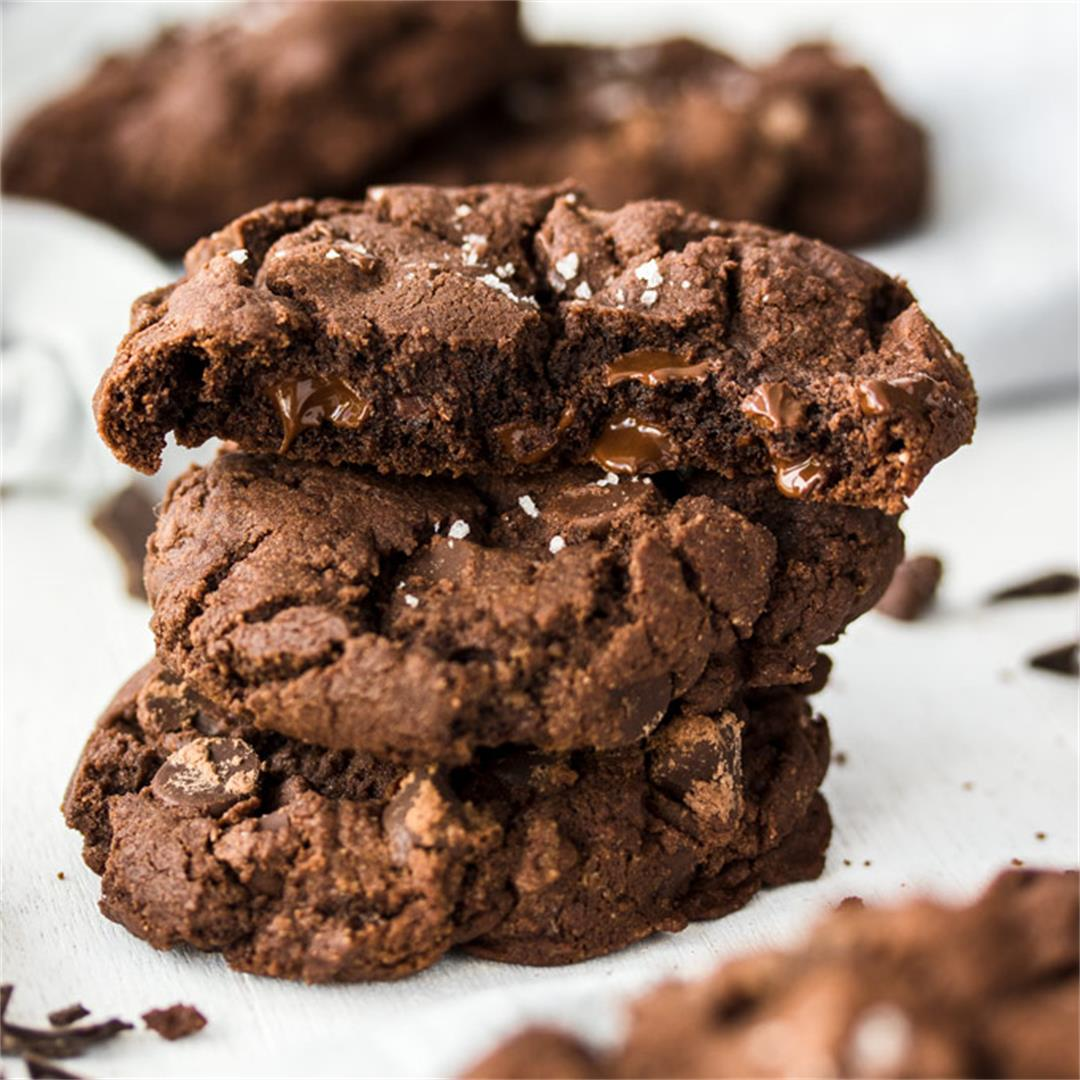 Salted Chocolate Chocolate Chip Cookies