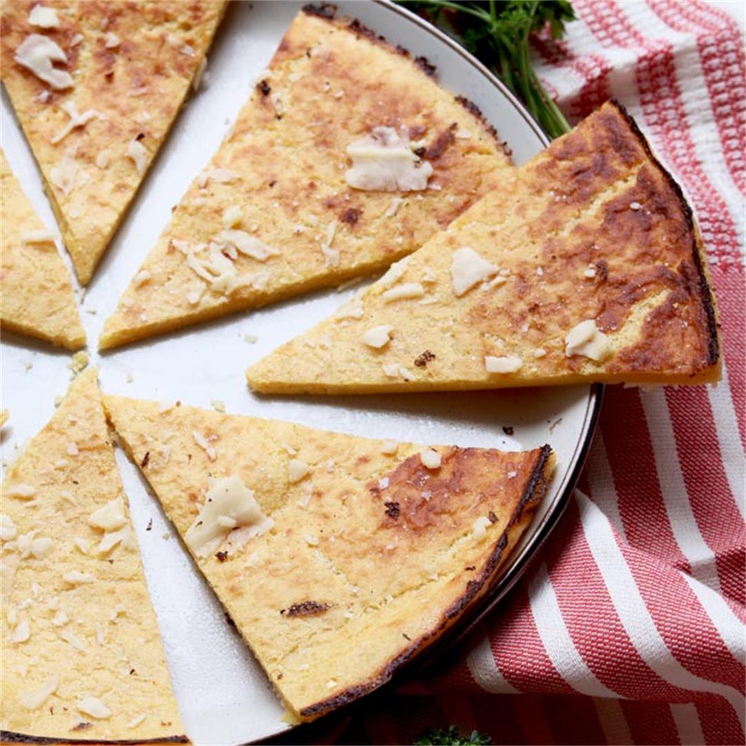 10 Minute Garlic & Herbed Grain-Free Flatbread (socca)