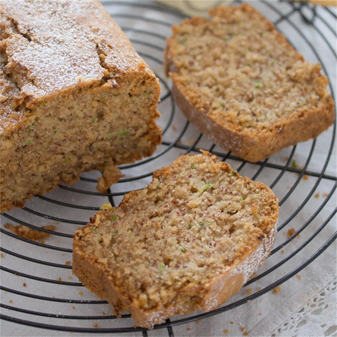 Best Zucchini Bread with Hazelnuts and Cinnamon