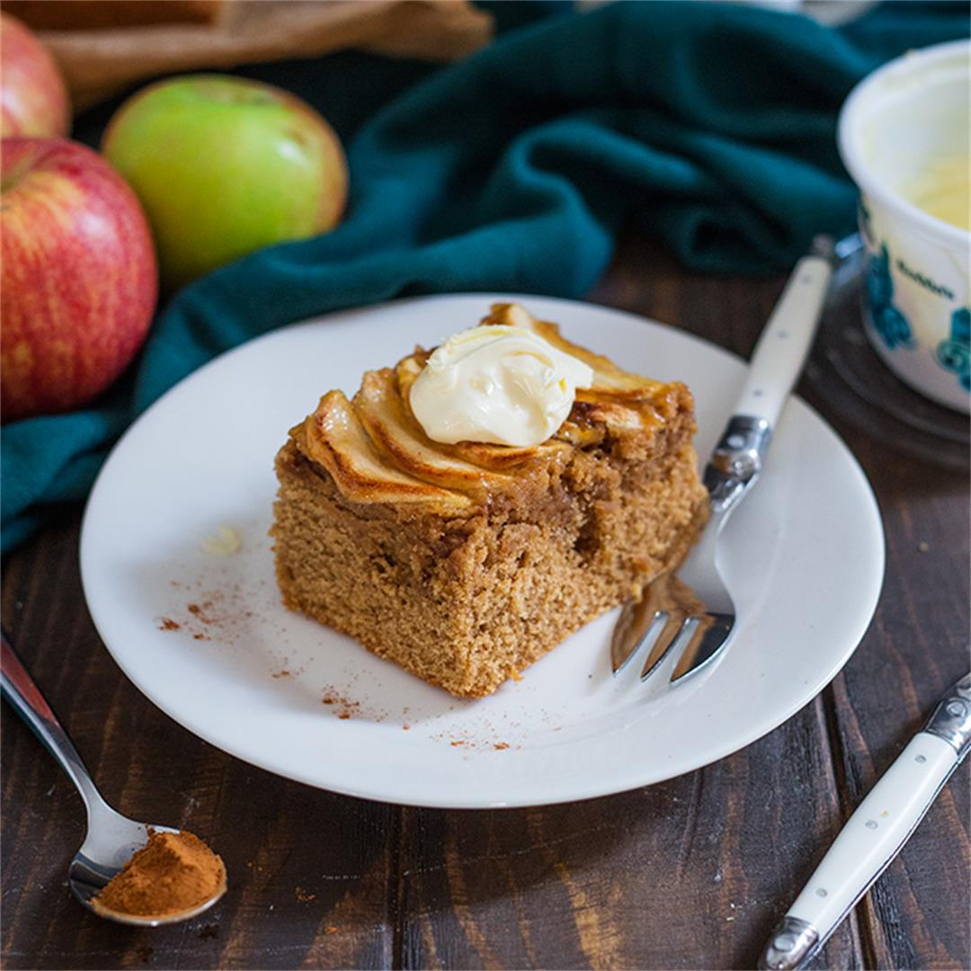 Apple and Cinnamon Clotted Cream Cake