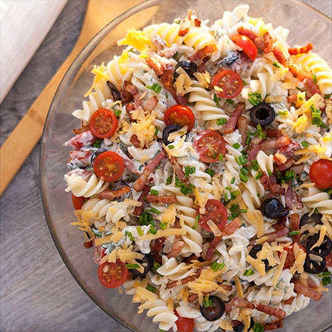Bacon Ranch Pasta Salad – Light summer lunch or dinner
