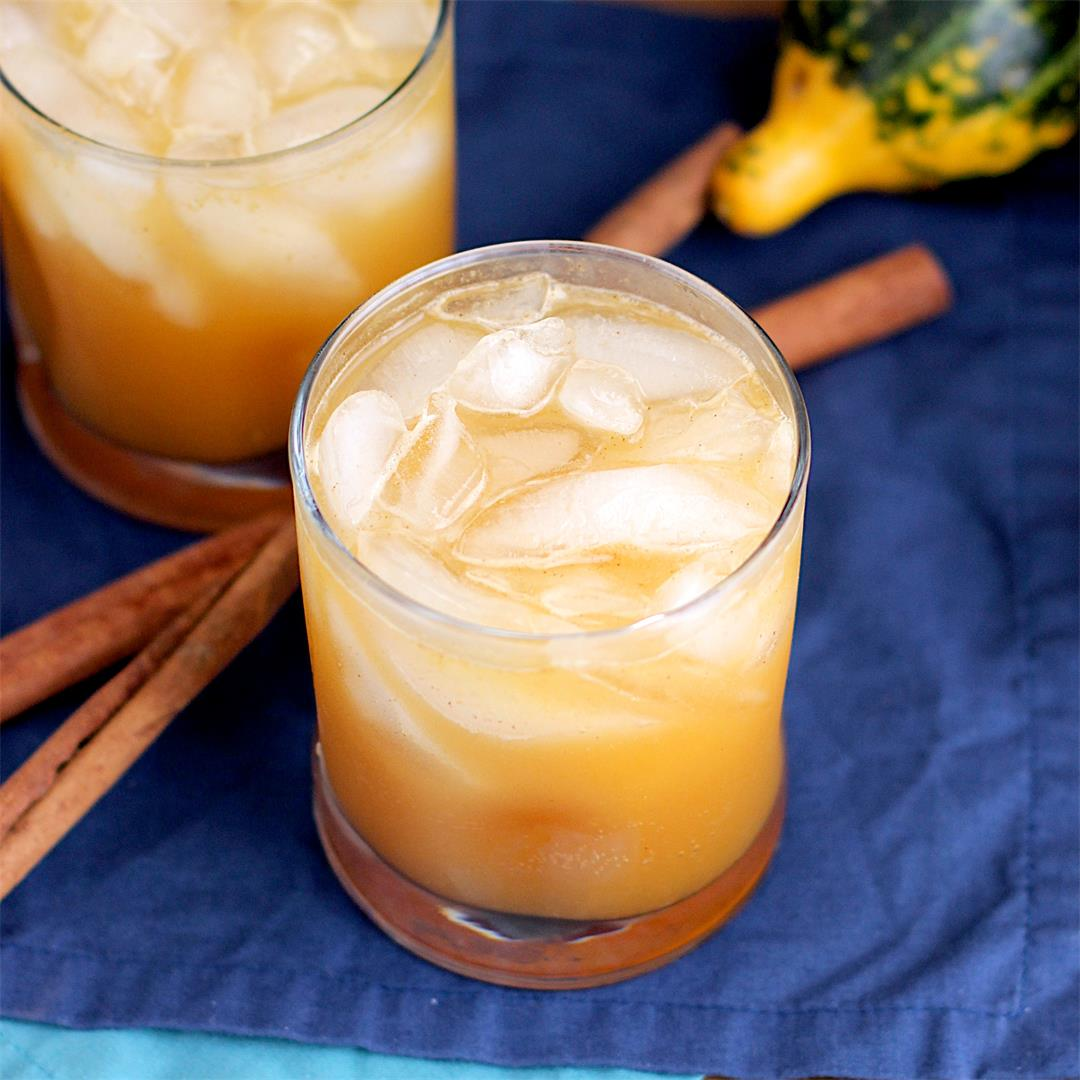 Bourbon Pumpkin Shrub Cocktail