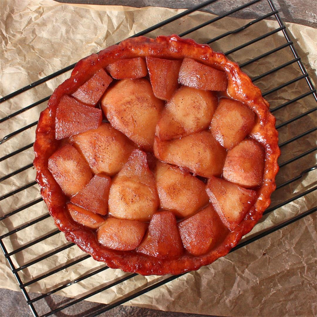 Red Wine Pear Tarte Tatin