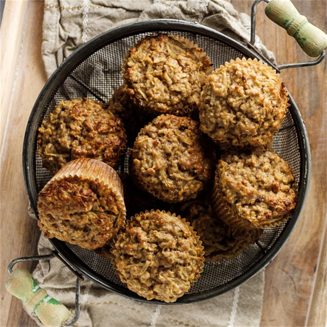 Healthy Apple Muffins with Oats