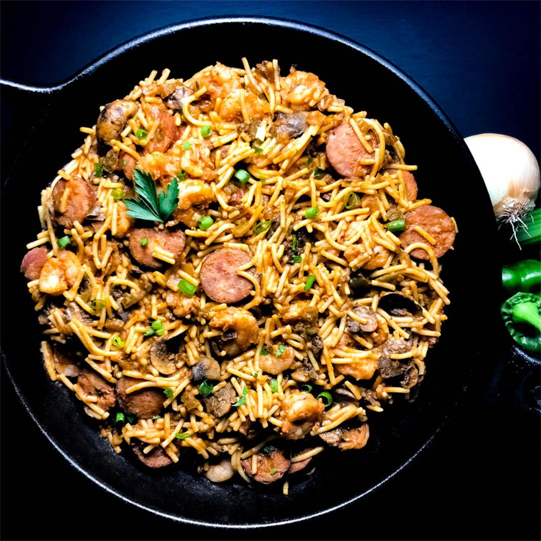 Gluten Free Shrimp and Sausage Pastalaya