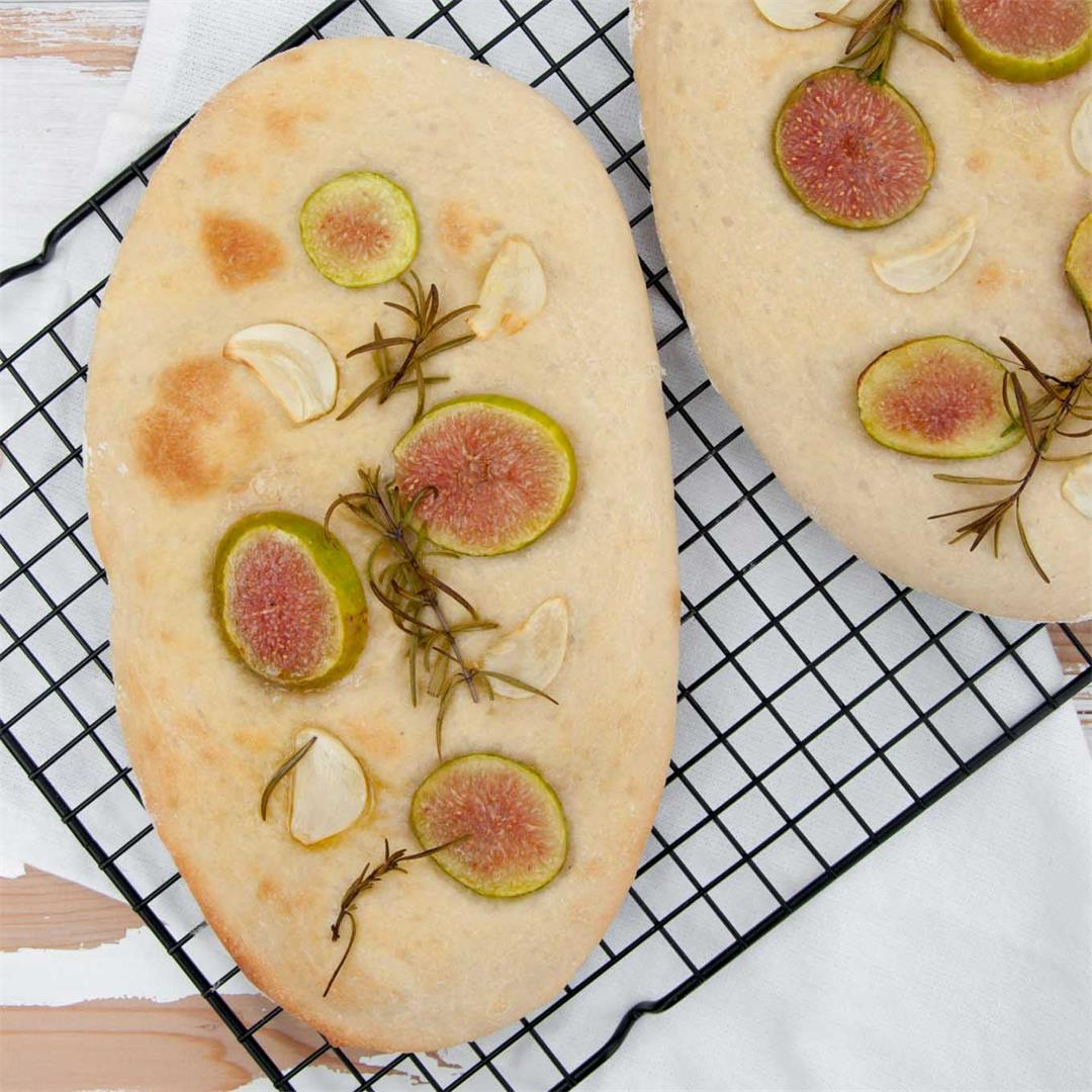 Fig Rosemary Garlic Focaccia