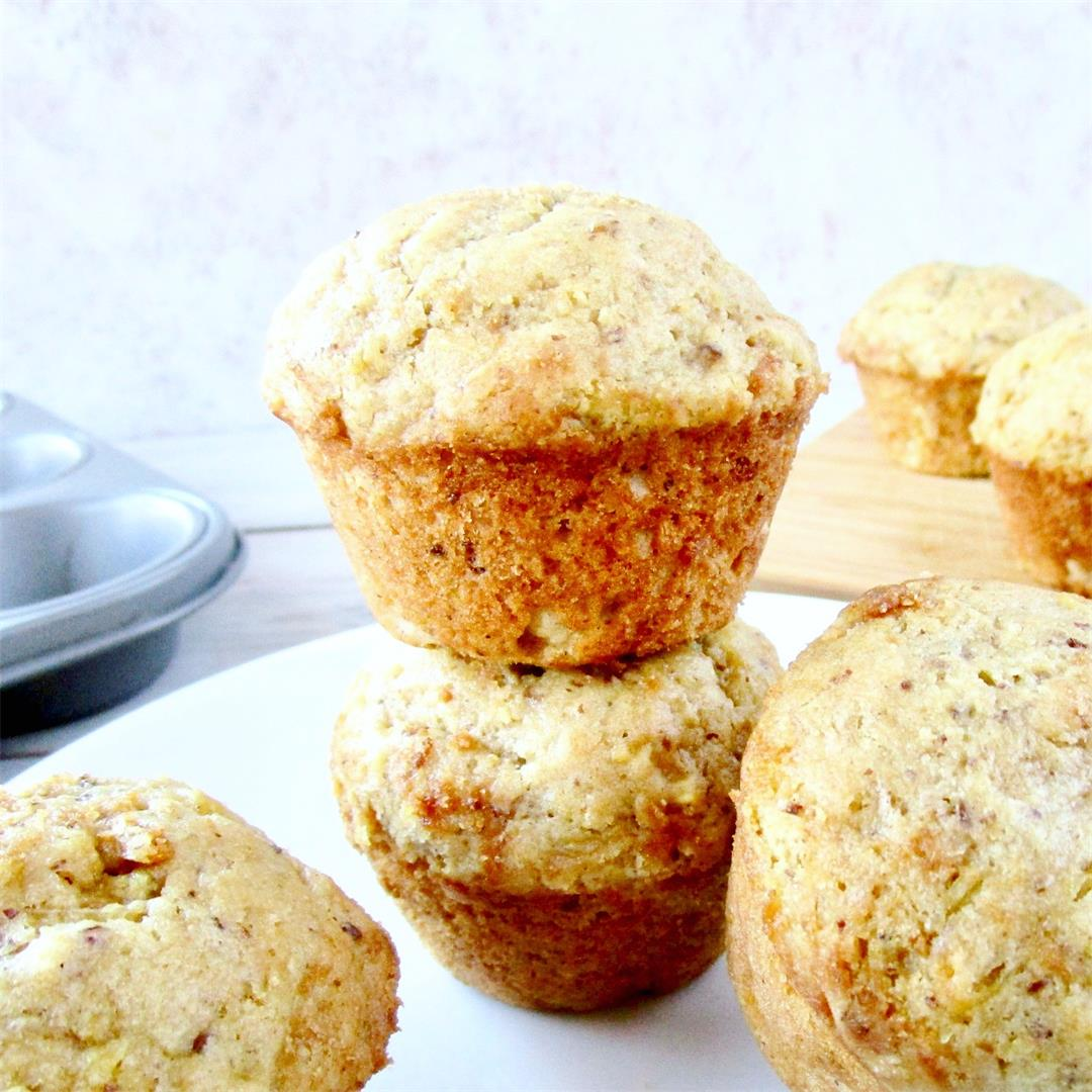 Vegan Vanilla Muffins (with Spaghetti Squash!)