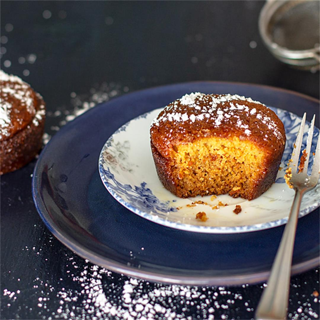South African Malva Pudding Mini Cakes
