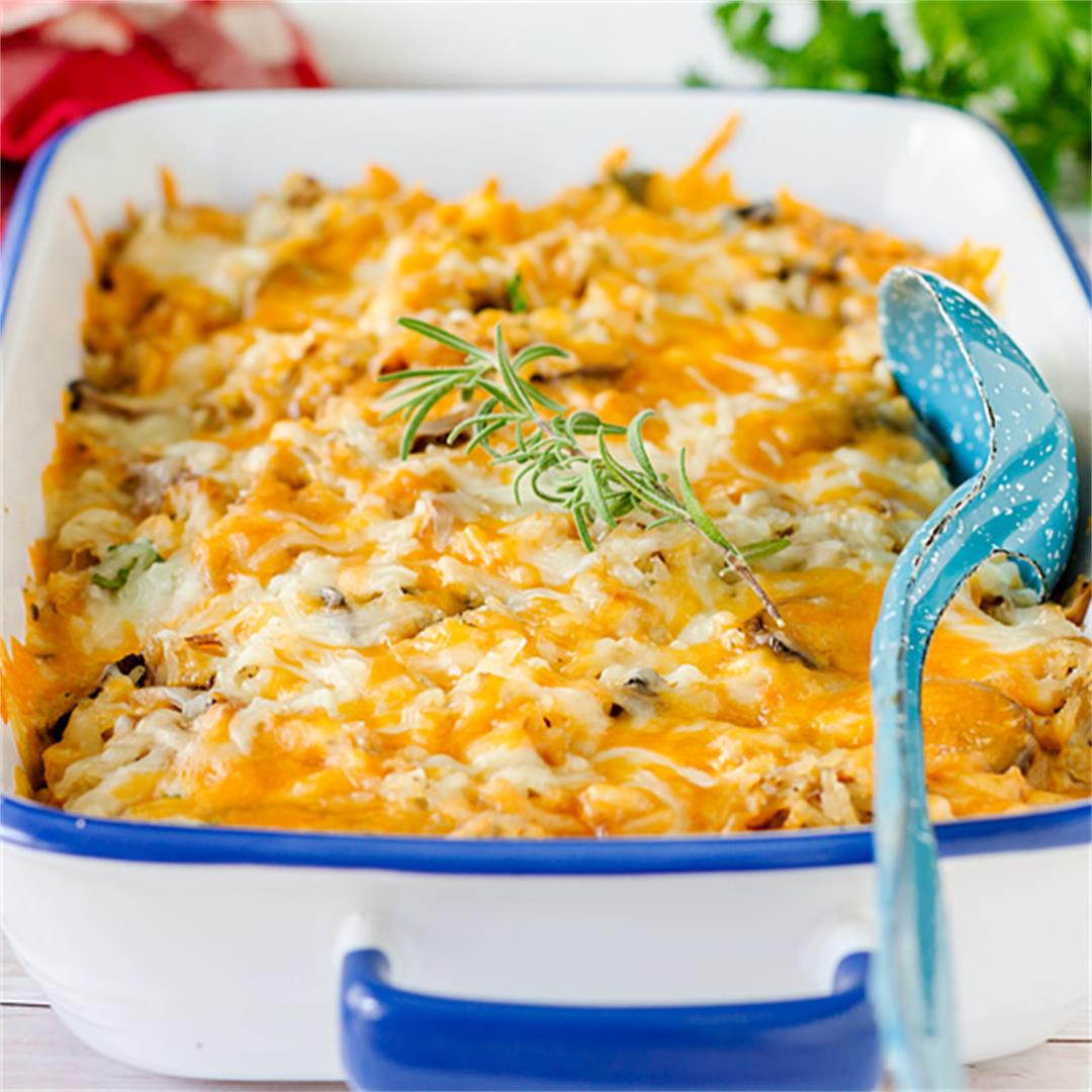 Leftover Cheesy Turkey Casserole – Jas' Kickasserole