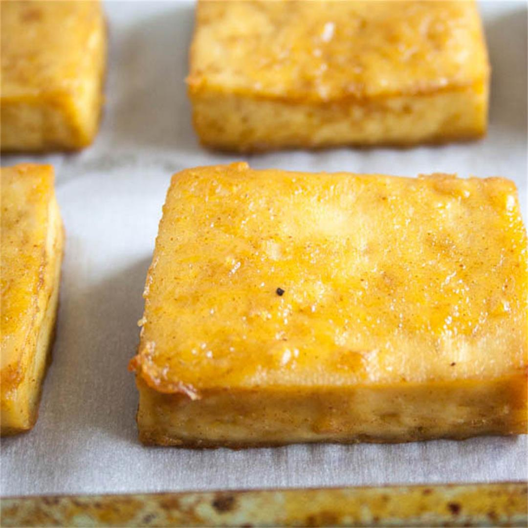 Maple Dijon Baked Tofu