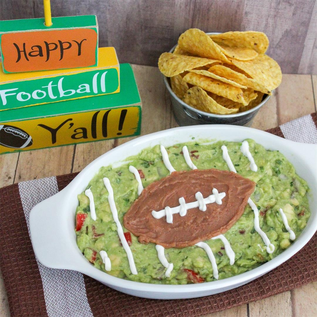 Game Day Guacamole Football