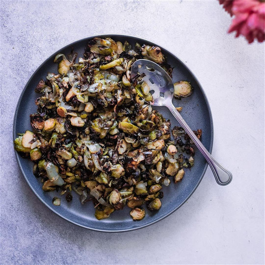 Kimchi Glazed Brussels Sprouts