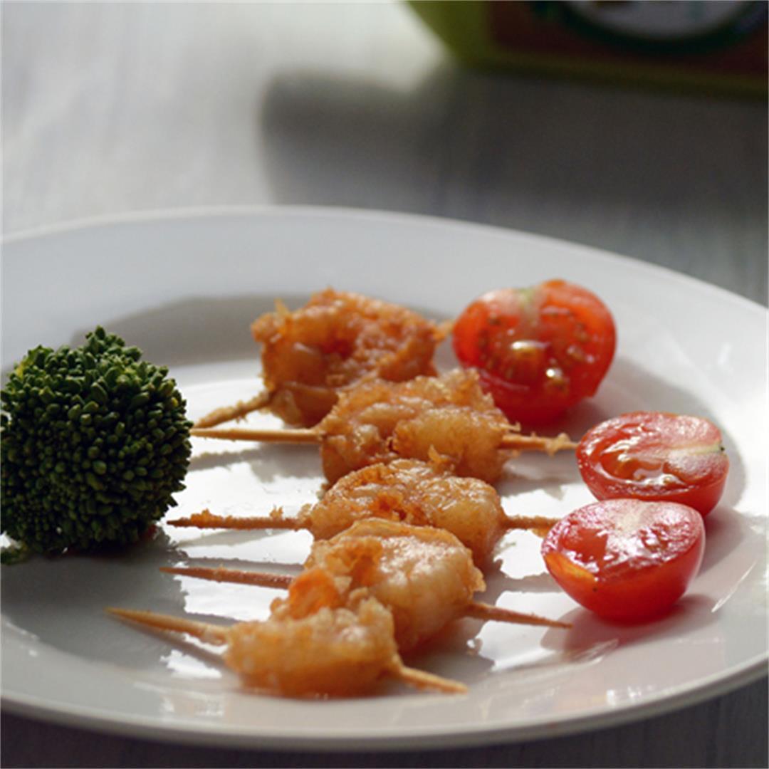 Shrimp on toothpick