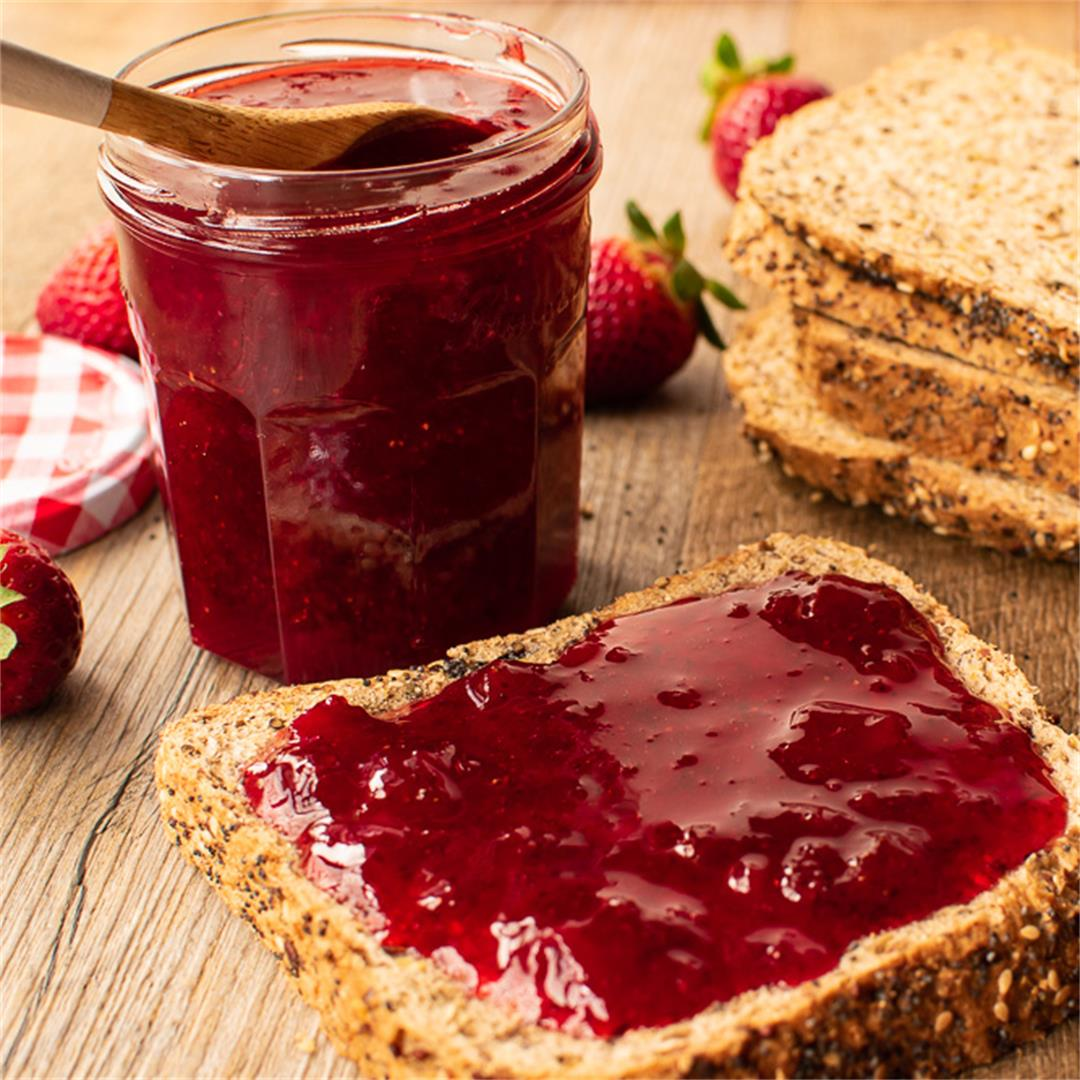Microwave Strawberry Jam using just 3 ingredients