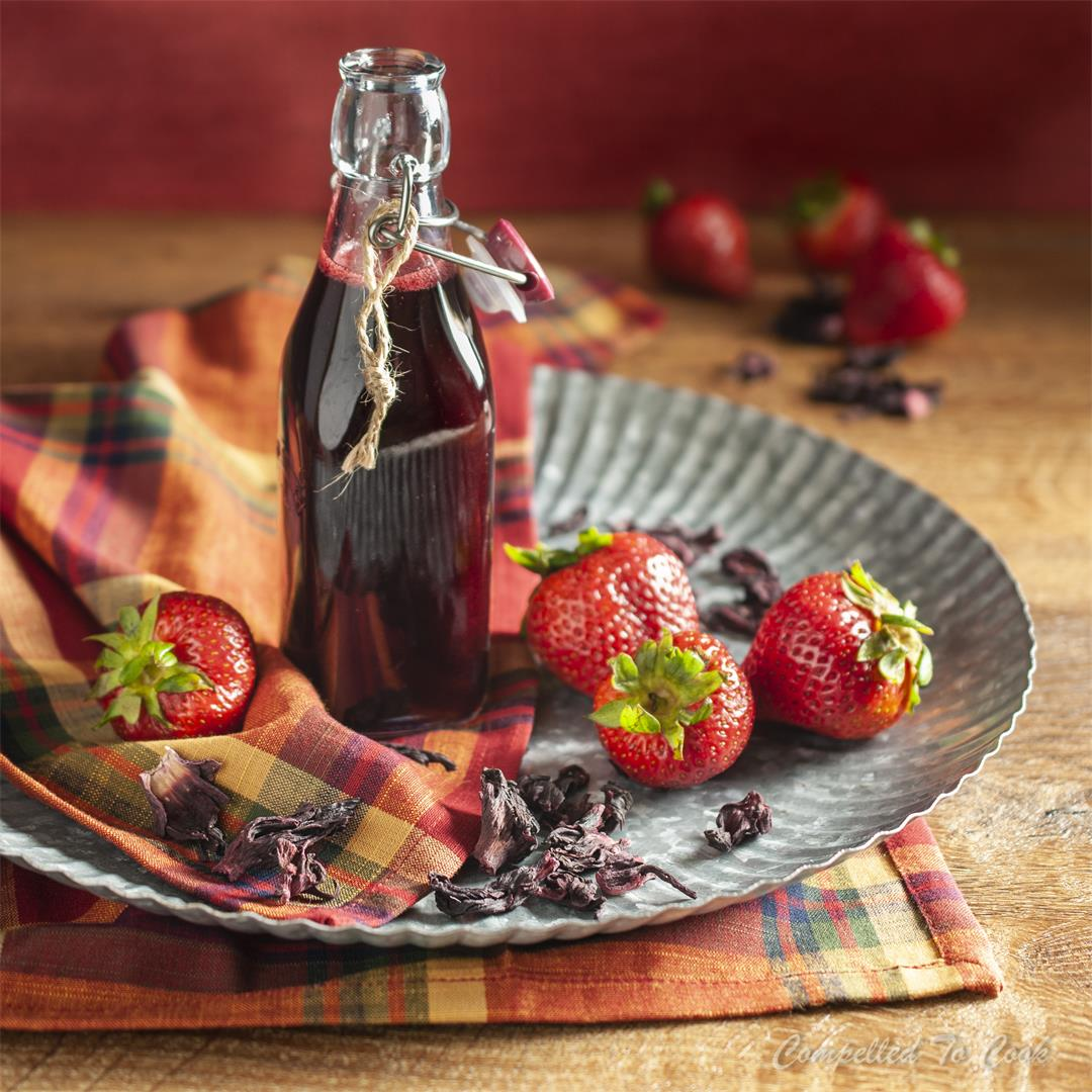 Strawberry Hibiscus Syrup