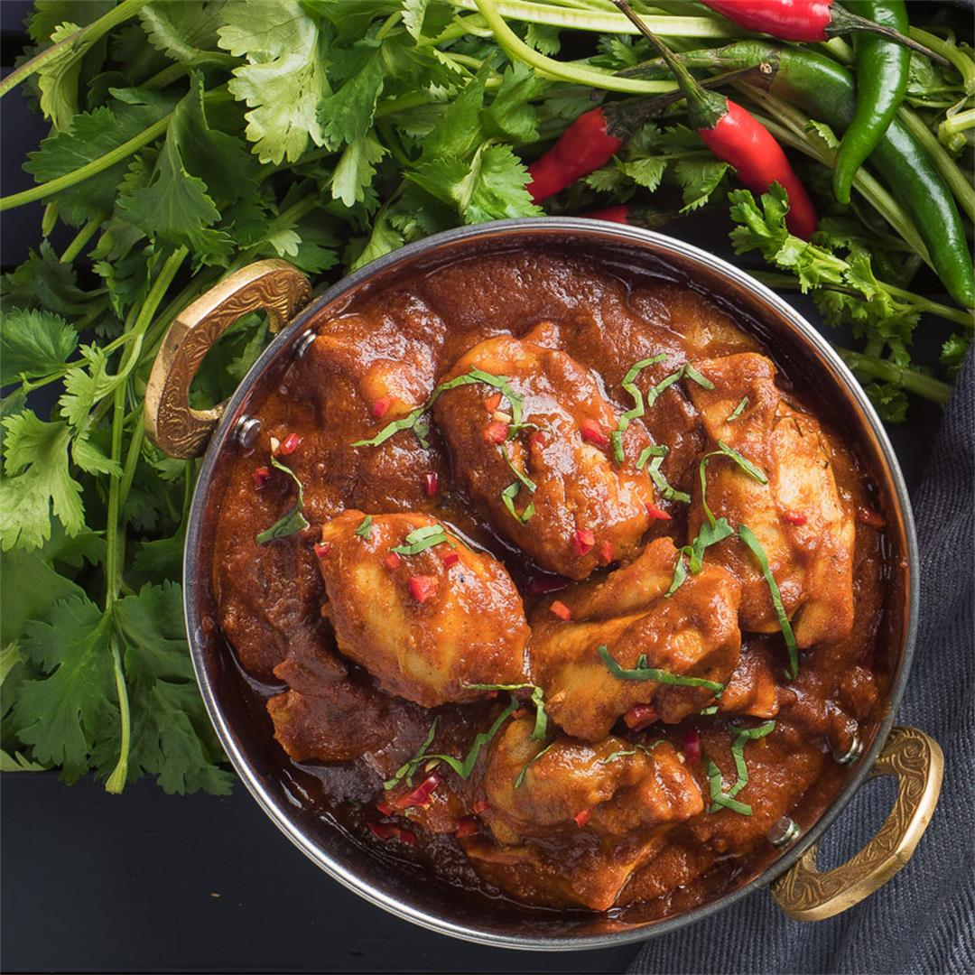 Indian Restaurant Style Chicken Madras Curry