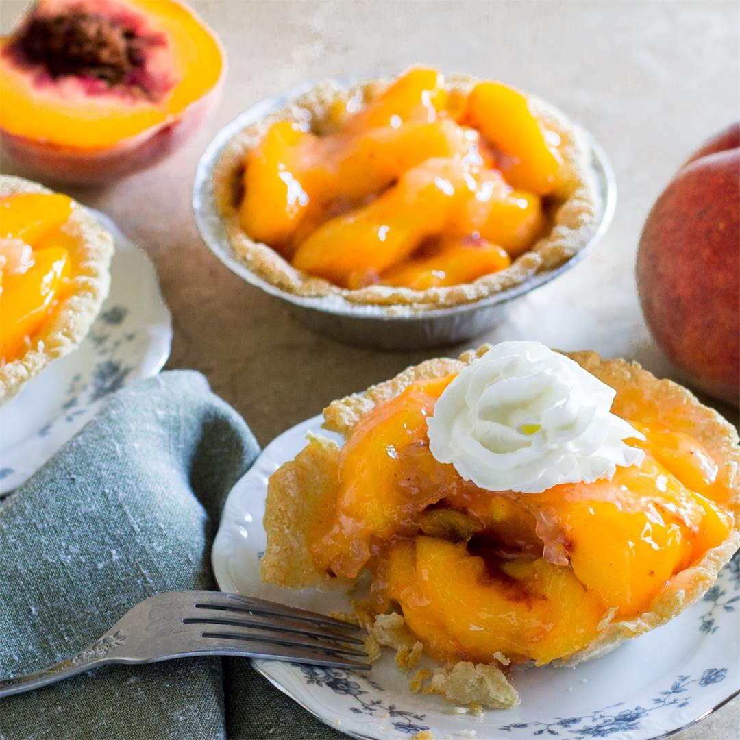This Peach Tart has fresh peaches in a delicate pastry shell.
