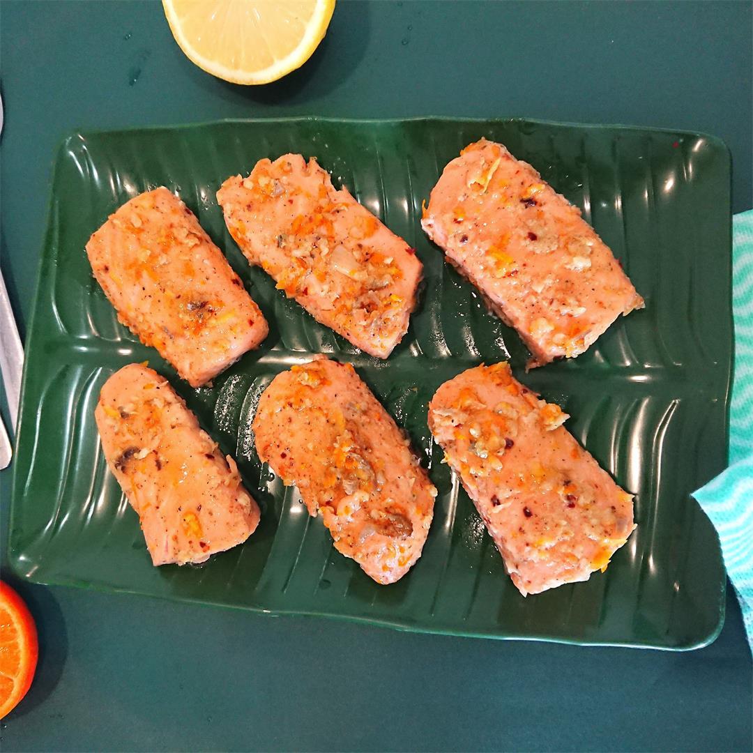 Orange butter salmon