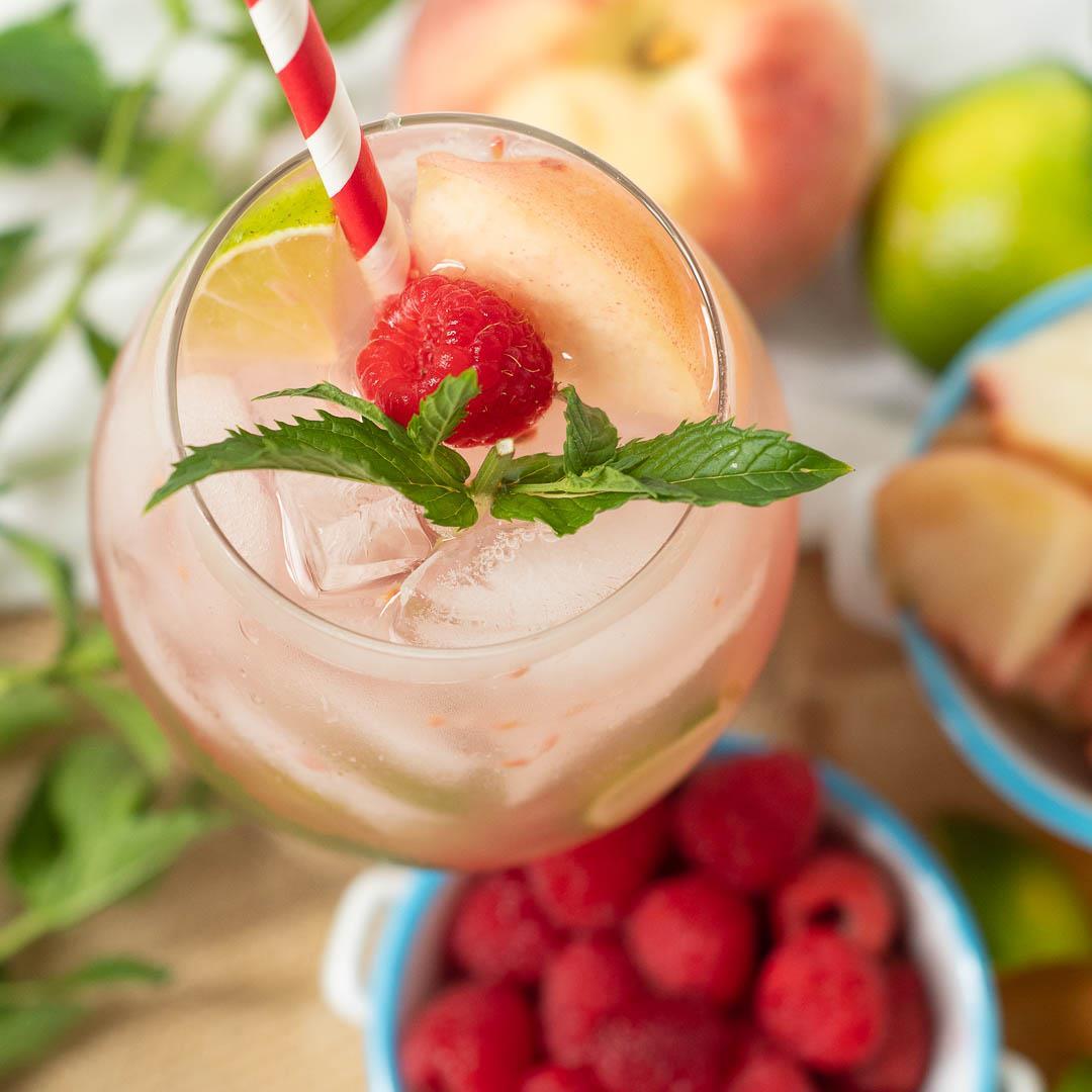 Raspberry Peach Mojito