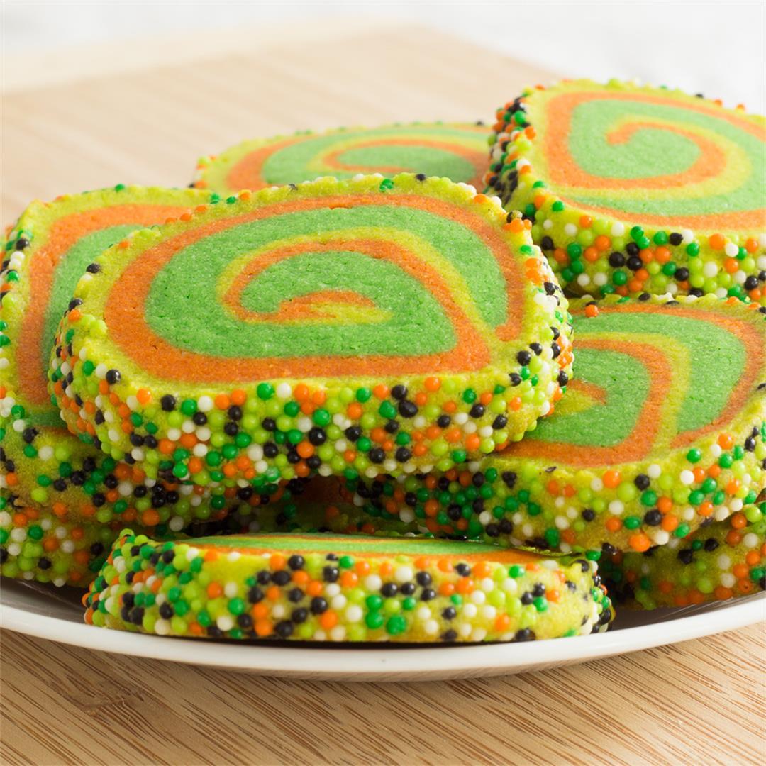 Swirled Vanilla Icebox Cookies