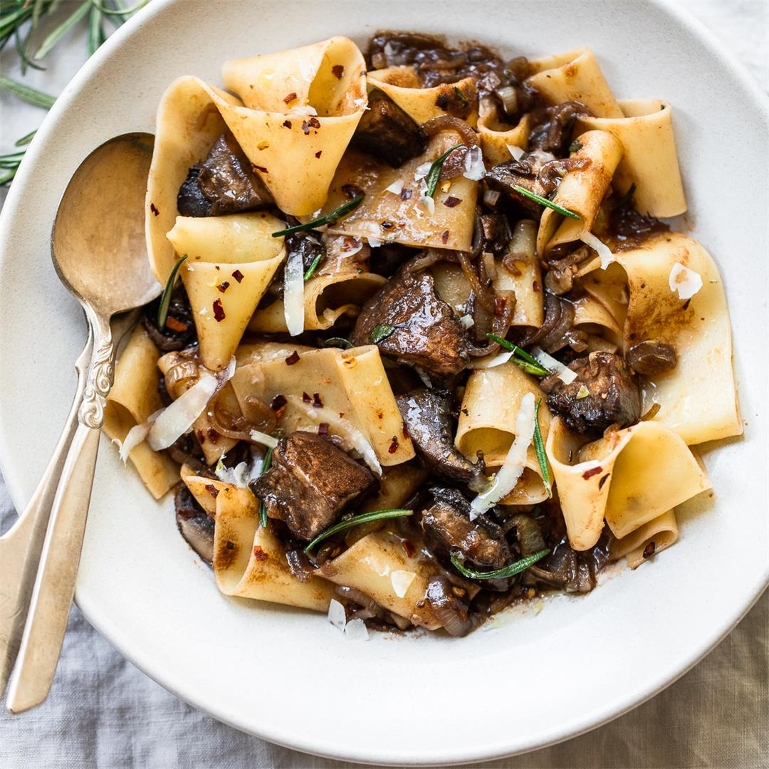 Pappardelle Pasta with Mushroom Ragu