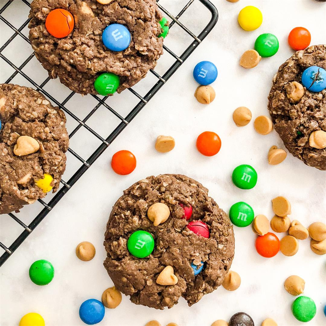 Chocolate Cake Mix Monster Cookies