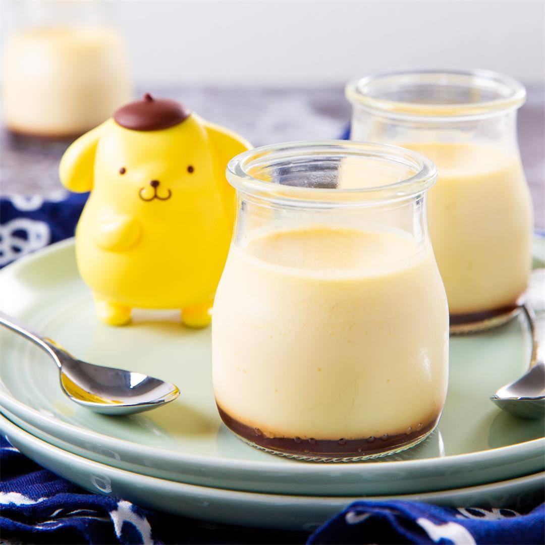 Purin (Japanese Caramel Custard Pudding)