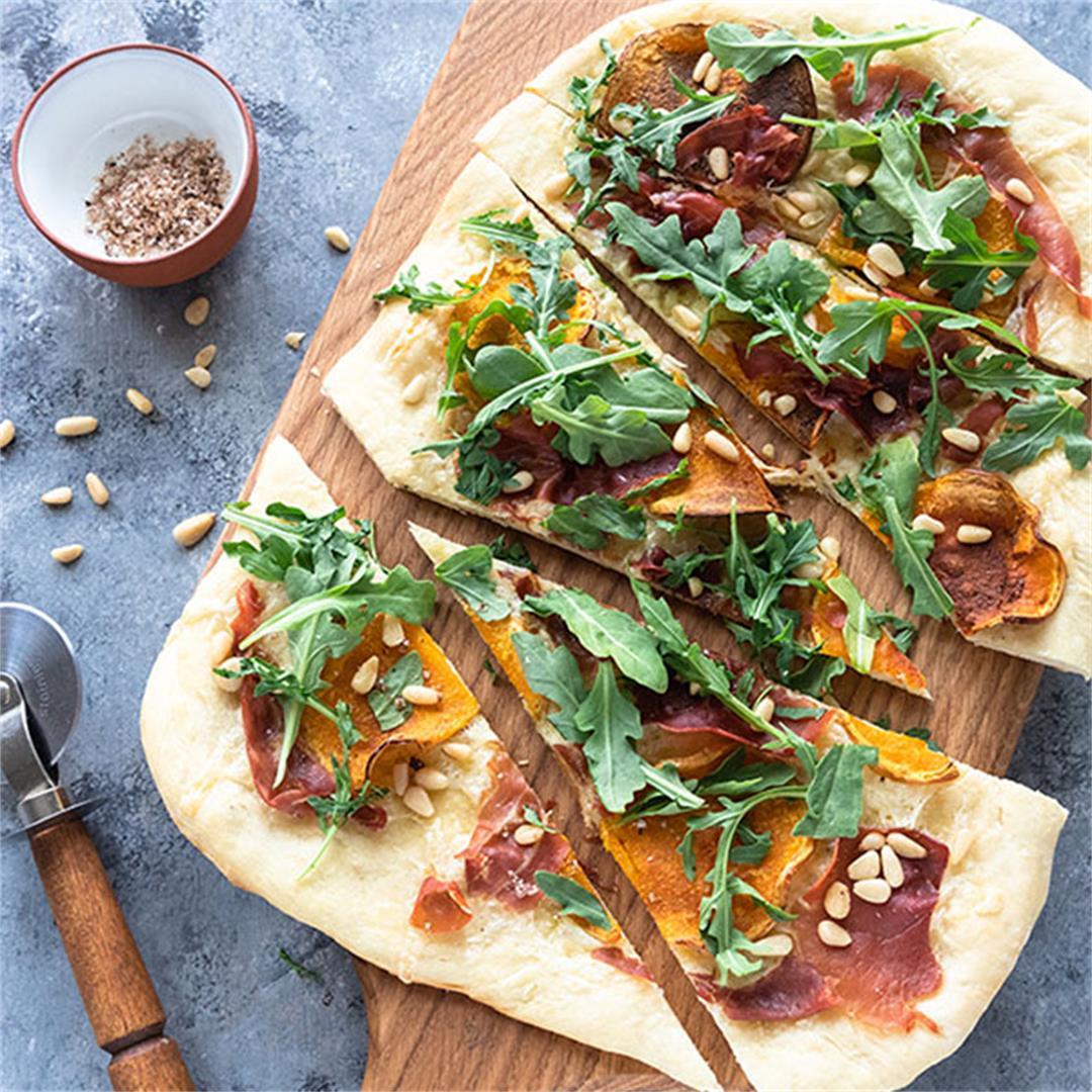 Prosciutto Butternut Squash Pizza