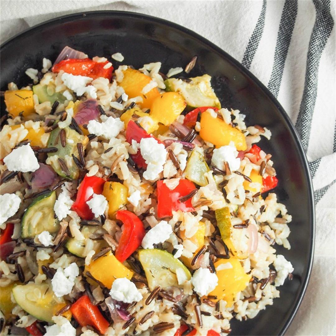 Acorn squash wild rice salad