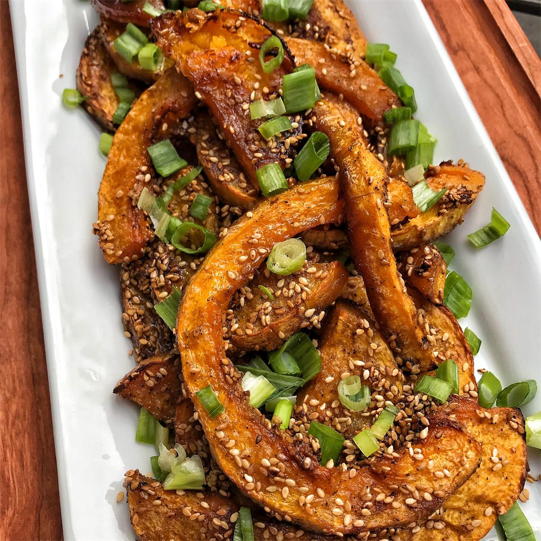Candied Butternut Squash Slices