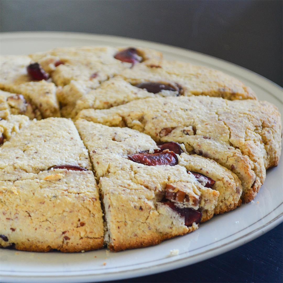 Cherry Pecan Scones - Paleo and Gluten Free